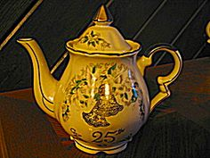 Lefton Handpainted China 25th Anniversary Tea Pot. Click on the image for more information.