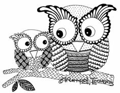printable free coloring pages items similar to owls on a branch giclee print on- Zentangle Drawings, Doodles Zentangles, Owl Coloring Pages, Coloring Books, Owl Tattoo Design, Owl Pictures, Owl Bird, Doodle Art, Altered Art