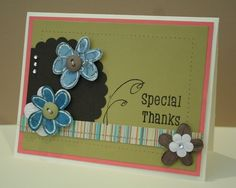 Thank you card - with flowers