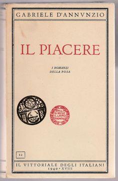 G. D ANNUNZIO-IL PACERE-IL VITTORIALE DEGLI ITALIANI 1940-L4195