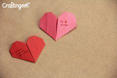 Como hacer un corazon de papel - Origami