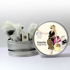 So cute as a pregnancy gift! Pregnancy Gift Baskets, Pregnancy Gifts, My Favorite Food, My Favorite Things, Next Gifts, Tea Tins, Pretty Packaging, Food Gifts, Our Body