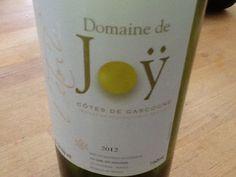 2012 Domaine de Joy, a white wine from the Cotes de Gascogne in southwest France.