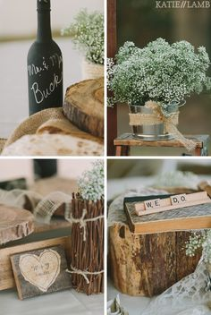 Babys Breath Centerpiece. So simple but so elegant!!