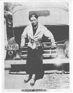 """Bonnie Elizabeth Parker (October 1, 1910 – May 23, 1934) and Clyde Chestnut Barrow (March 24, 1909 – May 23, 1934) were well-known outlaws, robbers, and criminals who traveled the Central United States with their gang during the Great Depression. The """"Barrow Gang"""" included at times Buck Barrow, Blanche Barrow, Raymond Hamilton, W.D. Jones, Joe Palmer, Ralph Fults, and Henry Methvin. Their exploits captured the attention of the American public during the """"public enemy era"""" between 1931 and…"""
