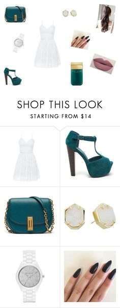 """""""Untitled #78"""" by berina-i ❤ liked on Polyvore featuring Bebe, Kendra Scott, Michael Kors and Marc Jacobs"""