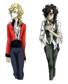 Enjolras and Grantaire. I love this! They're so gangly.