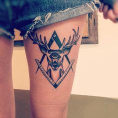 #Deer #deertattoo#tattoolifemagazine #tattoolife #tattoocollection #tattoo #neotraditional #tattoo #newyorkadorned #mamasink #inkerstattoo
