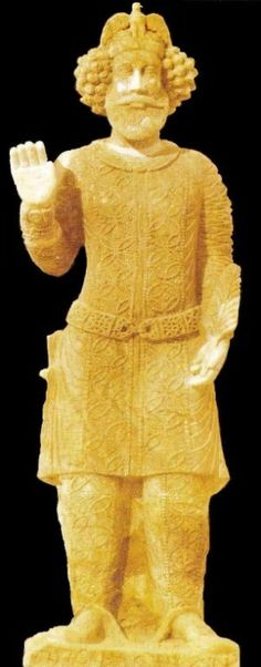 Ancient Persian Susian Salute  Artifact Statues of Susa Noblemen doing the Ancient Persian Susian Salute. The right hand bent straight, with the elbow to the waistline and the hand held up sideways. The left hand held in front of the body as the show of respect. This Salute is the origin of the Ancient Persian Aryan Salute of the later years during Achaemenids and after eras. Ancient Persian Susian Salute was in use during Susian, Median and Achaemenid Eras.