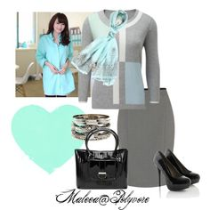 work outfit, created by maleea-222 on Polyvore