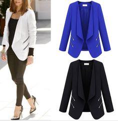 Women's Leisure Suit Zipper Blazer I like the zipper