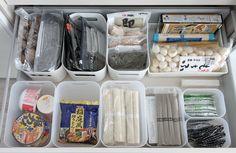 食ここは主に乾物類を収納しています・品の収納 100均グッズ 片付け