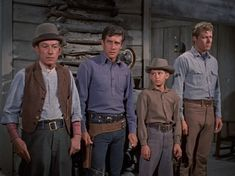 The men of the Sherman Ranch John Smith Actor, Laramie Tv Series, Robert Fuller Actor, Johnny Crawford, The Rifleman, Best Hero, The Virginian, Western Film, Tv Westerns