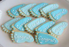 BABY FEET Cookie Favors -  Pink Baby Feet Cookies - Blue Baby Feet Cookies - Baby Shower Cookie Favors - Baby Feet Decorated Cookie Favors -1 Dozen. $24.99, via Etsy.