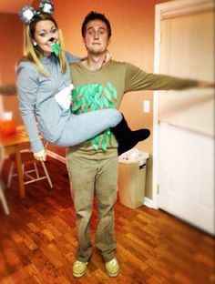 koala bear and eucalyptus tree couple halloween costume - Halloween Costumes Idea For Couples