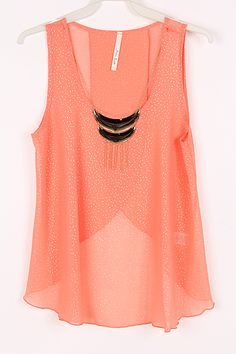 Luster Chiffon Top | Awesome Selection of Chic Fashion Jewelry | Emma Stine Limited