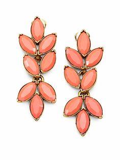 Oscar de la Renta Floral Earrings - $295