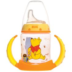 Disney® Winnie the Pooh Learner Cup When your little one is ready to start using a cup, NUK® Learner Cups help make the transition from breast or bottle to cup easier. The spill-proof, soft spout is designed to be gentle on gums while teaching baby to drink from a spout. With specially-designed easy-grip handles, your little one will love drinking out of a sippy!