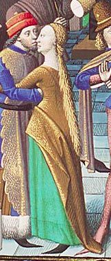 """Have you ever noticed that when you start gathering together images as """"proof"""" of whatever historical things you're planning to sew that suddenly you start seeing things in the im… Medieval Fashion, Medieval Clothing, Medieval Art, Medieval Life, Historical Art, Historical Clothing, Middle Age Fashion, 16th Century Clothing, Wars Of The Roses"""