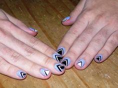 Triangular Nail art
