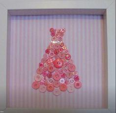 Handmade-SPECIAL-OFFER-pink-dress-button-framed-wall-art