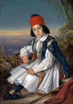 Johann Georg Christian Perlberg (1806-1884)-Young Drummer in Missolunghi