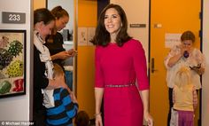 All eyes on Mary: Princess Mary attended the Aarhus University Hospital dressed in a stun...