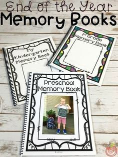 The ultimate Memory Book for Preschool, Kindergarten, and First Grade includes 35+ pages to help students and parents remember & treasure the school year! The black and white layouts are printer friendly, and there is space for photos, drawings, writings, and illustrations.