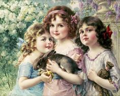 Emile Vernon - The Three Graces - Fine Art Print