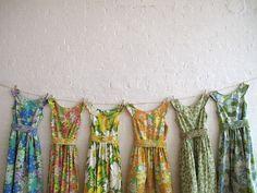 Vintage-inspired bridesmaids