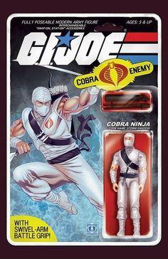 Joe: A Real American Hero variant cover - Cobra Ninja by Elias Chatzoudis * Cartoon Movies, Cartoon Pics, Alternative Comics, Old School Toys, Storm Shadow, Gi Joe Cobra, Sci Fi Horror, Vinyl Toys, Comic Books Art