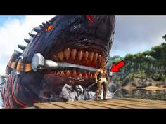 Awesome Ark Survival Evolved   GIANT NEW COLOSSUS MEGALODON BOSS SHARK!    Ark Modded Gameplay