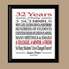 Teacher Retirement Gift Retired Teacher Gift Teacher
