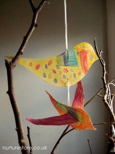 creative writing ideas and bird crafts