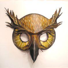 Owl Leather Mask via Etsy.