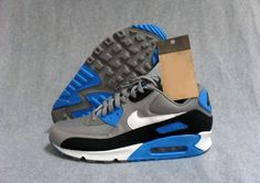 buy online 0b9b5 14d19 Nike Air Max 90 - Sport Grey   White - Black - Photo Blue (Wiosna 2013)