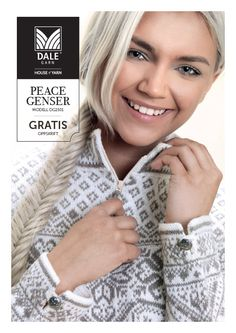Peace pattern by Randi Sunde for Dale of Norway. published July click through for FREE pattern via Ravelry link Intarsia Knitting, Intarsia Patterns, Sweater Knitting Patterns, Free Knitting, Knit Stranded, Norwegian Knitting, Fair Isle Knitting, Couture, Knit Crochet