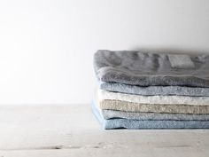 Ensemble de 6 serviettes lin. Lavée, naturel, eco - amicales, handmade linge serviettes