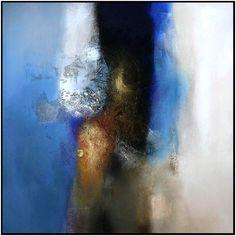 Het goud en blauw van de hemel (sold) (Painting),  120x120 cm da Eelco Maan