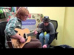 """Brett Dennen performs """"San Francisco"""" at Essential Living Foods, Santa Monica (complete with trash can percussion!) March 2012"""