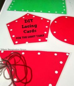 DIY Lacing cards! Fun both on and off the light table!