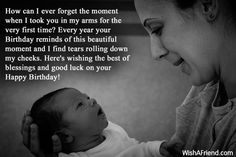 Sentimental Quotes For Sons Birthday QuotesGram More