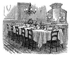 Victorian Era Dining Room