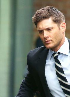 Jensen on set, season 12