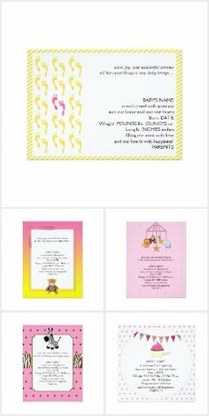 A collection of birth announcements for girls Baby Girl Birth Announcement, Birth Announcements, Frame, Girls, Collection, Little Girls, Daughters, Frames, A Frame