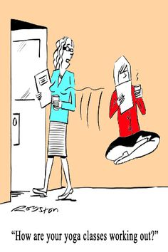 How are your yoga classes working out?  (yoga fun, humour & laughter) .... #yogafun #yogacartoon #yogahumour #yoga #om #yogahumor