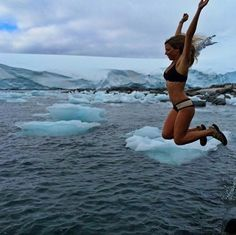Winter weekends... Any takers? @vlagios wearing our WILD CHILD + BOHO bikini #thewaterisfreezing #thewateriswaiting