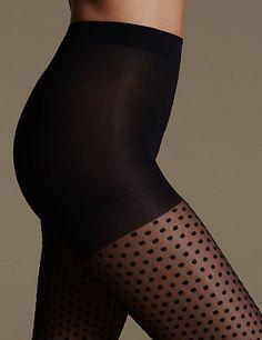 Light Control Spotted Mesh Bodyshaper Tights | M&S