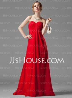 Empire Sweetheart Floor-Length Chiffon Bridesmaid Dress With Ruffle Beading (007001058) - JJsHouse