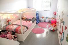 IKEA kura bed painted white Baby & Kids,For the Home,Home,Kid's Room, Casa Kids, Ikea Kura Bed, Daughters Room, Little Girl Rooms, Kid Spaces, Small Spaces, Kid Beds, Room Colors, Colours
